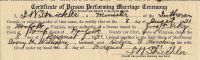 Marriage Certificate (Avery Henry Williams and Helen Elizabeth Bucking) on August 8, 1931.