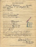 Honorable Discharge from U.S. Army (Avery Henry Williams) on December 20, 1918 (2 of 2)