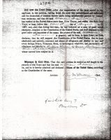 Immigration Certificate of Citizenship (William Dunn) (2 of 2)