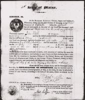 Immigration Declaration of Intention of Citizenship (John Field)