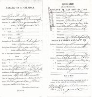 Marriage Record (Margaret Cunningham to Leo Dunn)