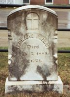 Headstone of Edward Field, son of John and Mary Field, at St. Denis Church in Whitefield, ME