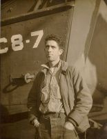 David John Dunne, Jr. on the deck of the USS Mount Olympus