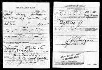 WWI Draft Card, James Avery Williams