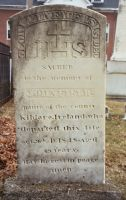 Headstone of John Field, Native of Kildare, at St. Denis Church in Whitefield, ME